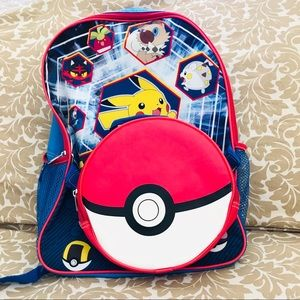 Pokémon backpack with detachable lunch bag